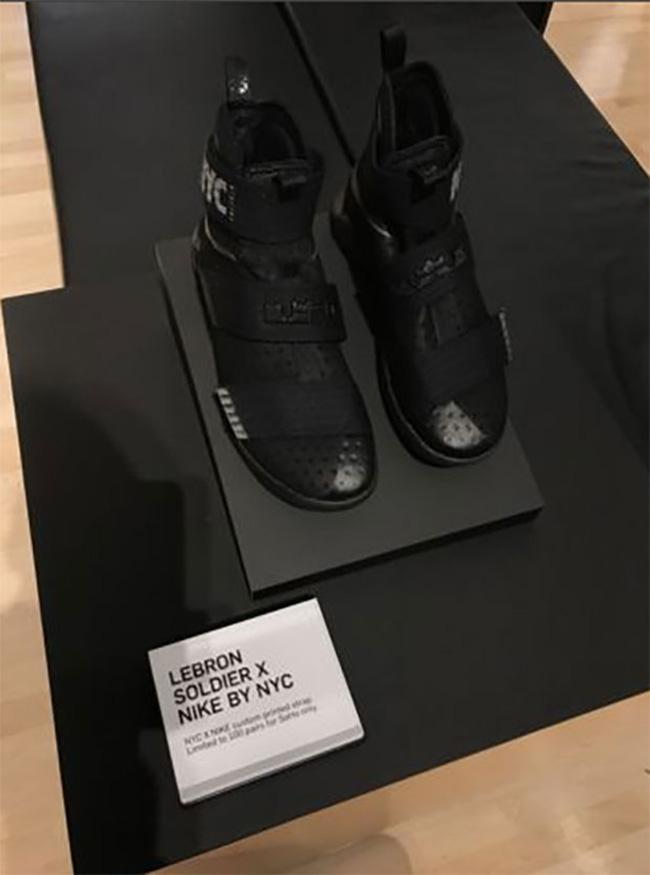 buy online 04dfd b272a 50% off lebron soldier 10 triple black e24d0 db270