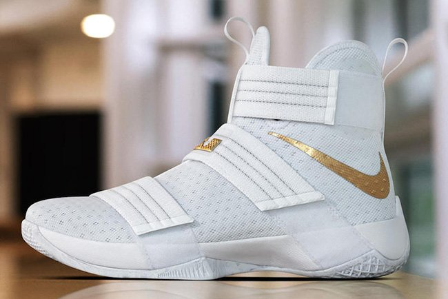 75cf09fc53a5 ... coupon code for nike lebron soldier 10 white and gold christmas day pe  2983f dc261