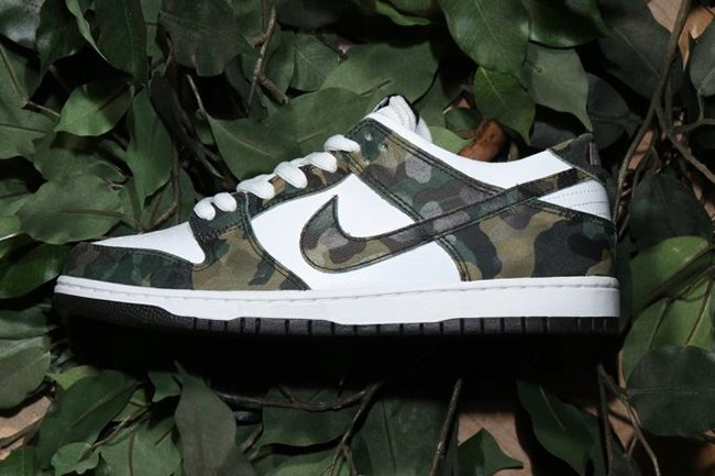 Nike SB Dunk Low Camo Legion Green