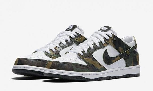 low priced cfa1f ef951 Nike SB Dunk Low Camo Legion Green 854866-331 | SneakerFiles