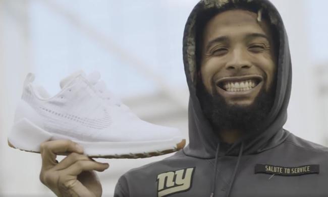 Odell Beckham Wears Nike HyperAdapt