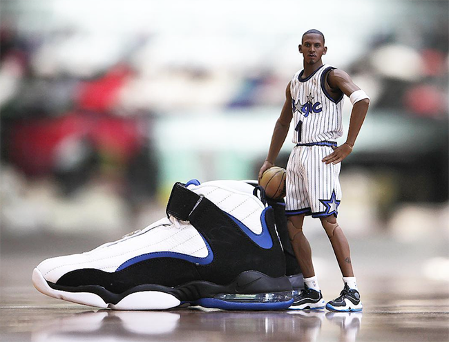Orlando Magic Nike Air Penny 4 White Atlantic Blue