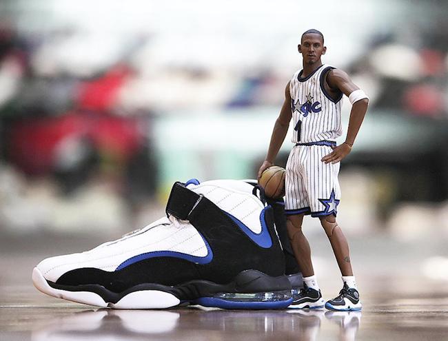 Orlando Magic Nike Air Penny 4 White Atlantic Blue