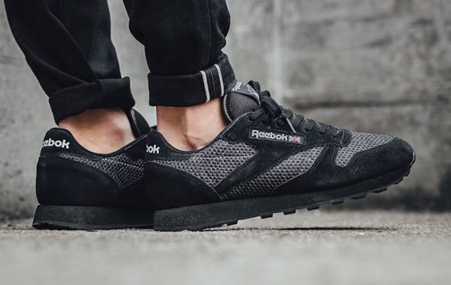 c9642ae59aa Reebok Classic Leather Knit Black Suede