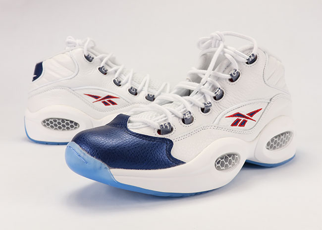 Reebok Question Mid Blue Toe Pearlized 2016 Review On Feet