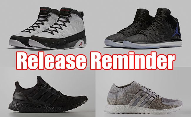Sneakers Release December 1 3 2016