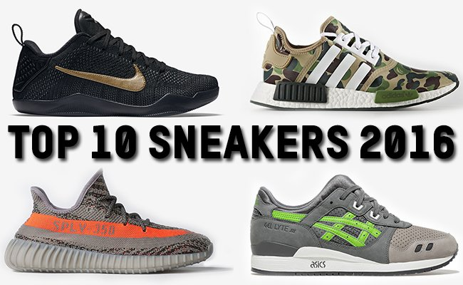 Top 10 Sneakers Releases of 2016