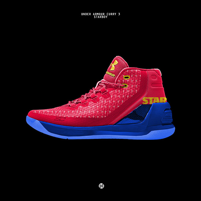 Under Armour Curry 3 Weeknd Starboy