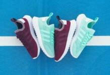 adidas Flashback Primeknit Maroon Easter Green