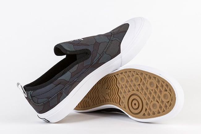 adidas Matchcourt Slip-On Core Black Organic Pattern