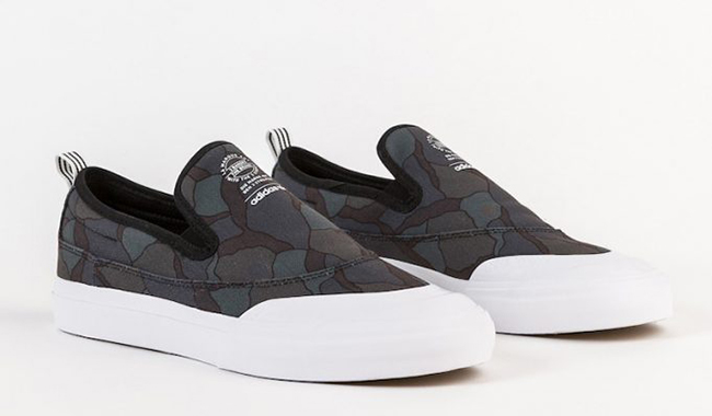 adidas Matchcourt Slip-On Core Black Organic Pattern