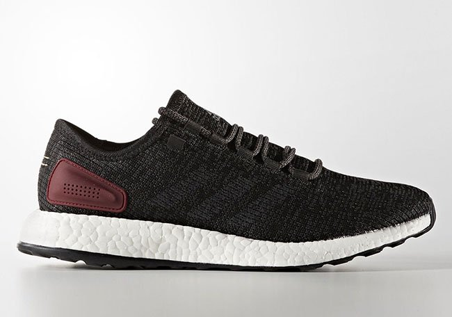 adidas Pure Boost Black Black Burgundy