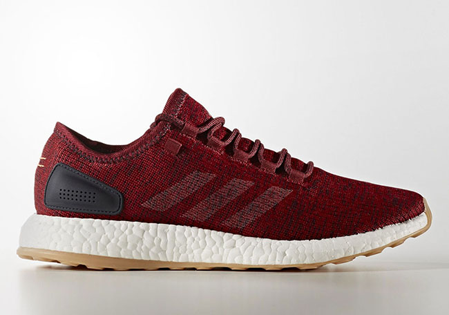 adidas Pure Boost Burgundy Mystery Red Night Navy