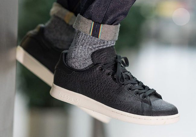 adidas stan smith all black leather