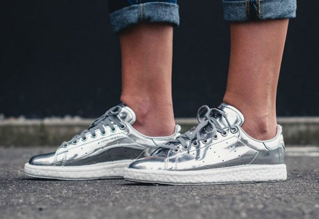 buy sale uk availability amazing selection adidas Stan Smith Boost Metallic Silver BB0108 | SneakerFiles
