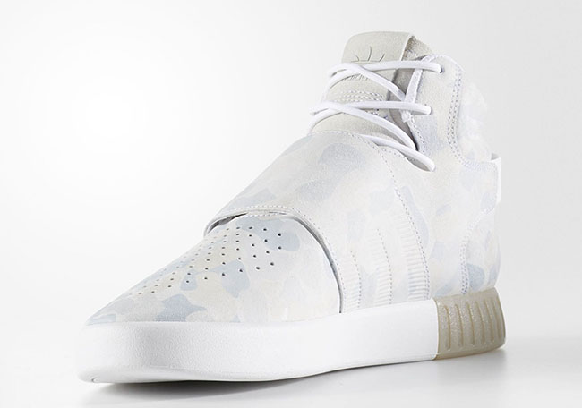 Adidas Tubular Invader Strap (Grey Four & Raw Pink) End
