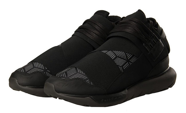 adidas Y-3 Qasa High Triple Black Geometric Pattern