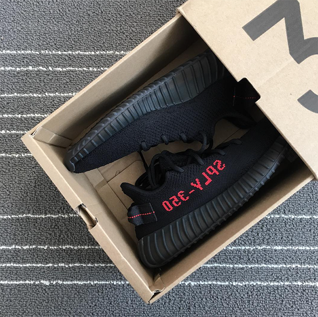 "Leaked Official Images of the adidas Yeezy Boost 350 V2 ""Black/Red"
