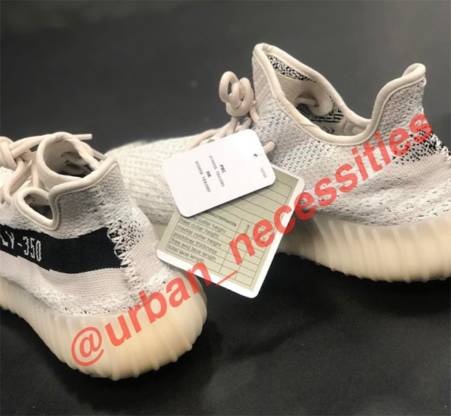 adidas Yeezy Boost 350 V2 White Black Sample
