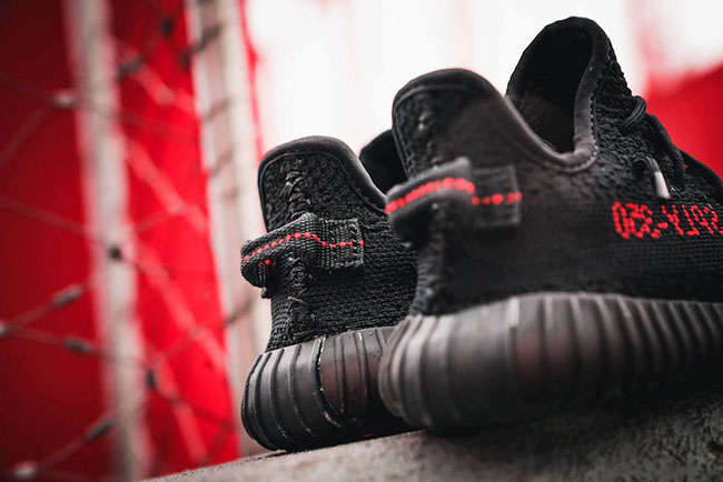 adidas Yeezy Boost 350 V2 Black Red Bred Valentines Day