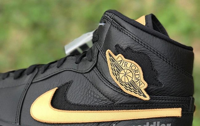Air Jordan 1 High 'BHM' 2017 Features Removable Patches
