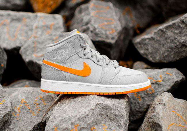 differently 29ddb 2dc26 Air Jordan 1 Mid Bright Citrus Wolf Grey | SneakerFiles
