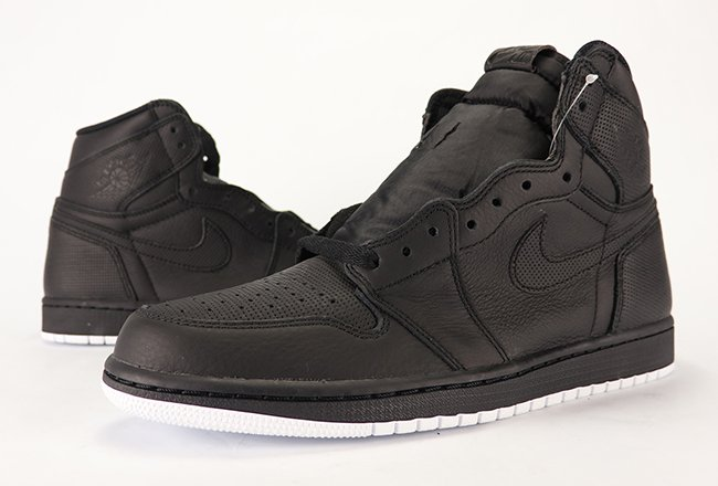 Air Jordan 1 Perforated Black White Yin Yang Review 2017