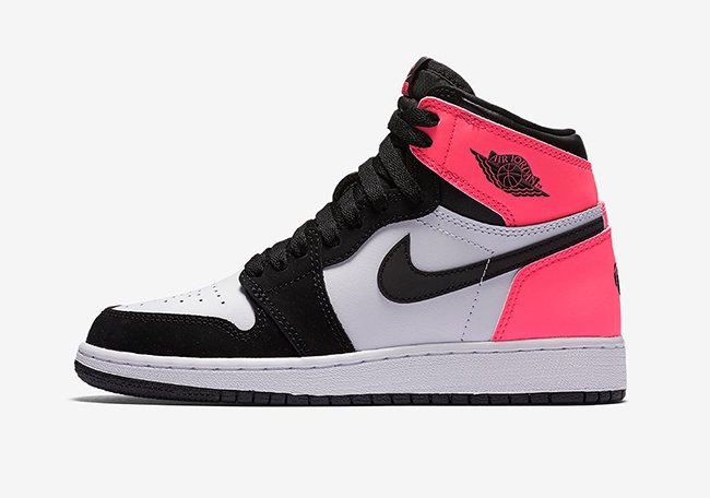 Air Jordan 1 Valentines Day 881426 009 Pink Black