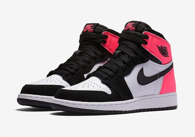 Air Jordan 1 Retro High OG Valentines Day Pink Black ed3682ed04