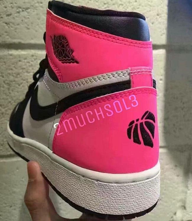 Air Jordan 1 Valentines Day Pink Black
