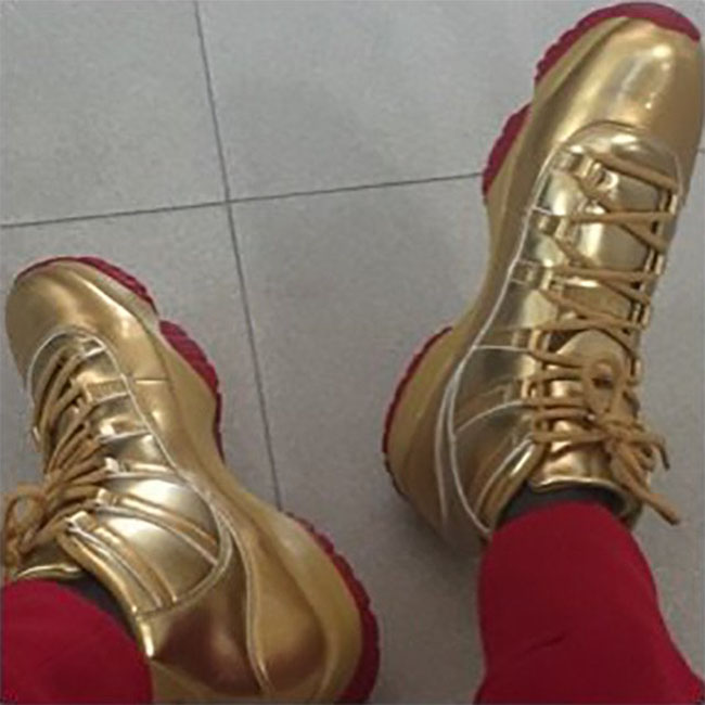 Air Jordan 11 Gold Red Bottom