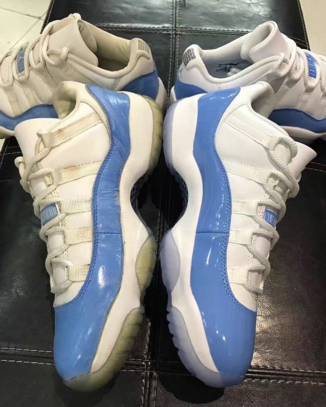 Air Jordan 11 Low Columbia University Blue 2001 vs 2017 Comparison