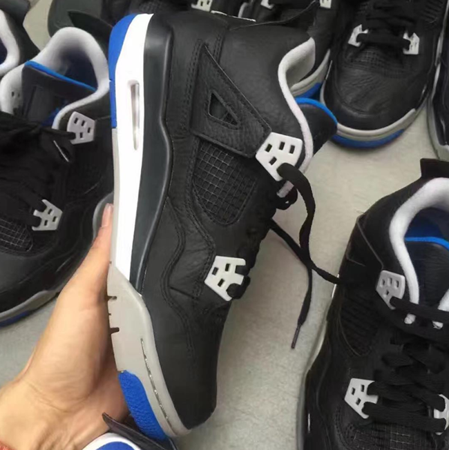 Air Jordan 4 Black Silver White Soar Blue