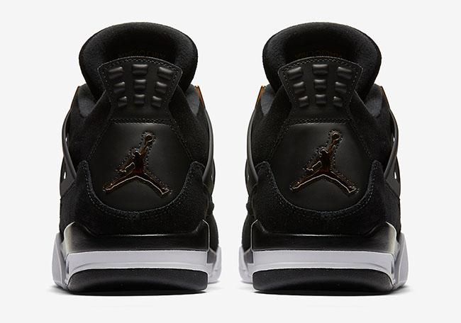 Air Jordan 4 Royalty Black Gold Official