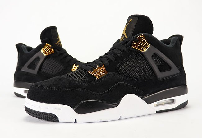 best service b54d1 ab364 Air Jordan 4 Royalty Black Gold Review On Feet