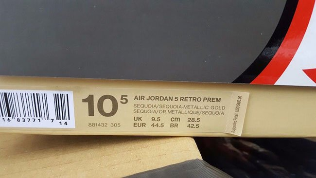 Air Jordan 5 Take Flight Box Packaging
