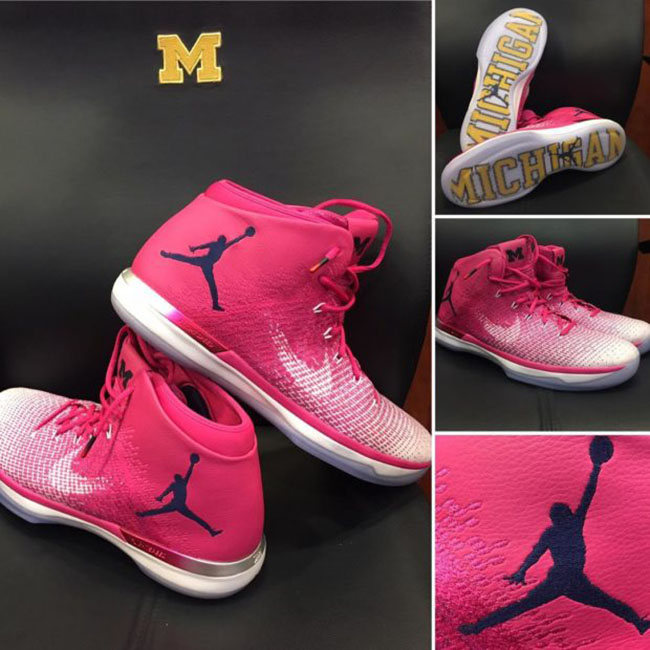 Air Jordan XXX1 Michigan Coaches vs Cancer PE