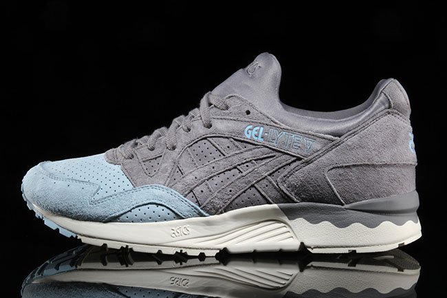 Asics Gel Lyte V Grey Light Blue Toe