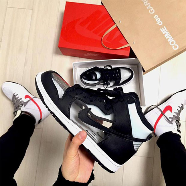 COMME des GARCONS x Nike Dunk High Clear