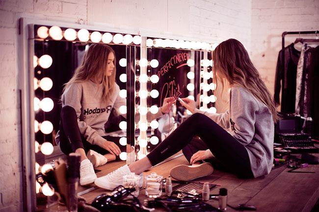 Gigi Hadid Reebok Club C Diamond Campaign