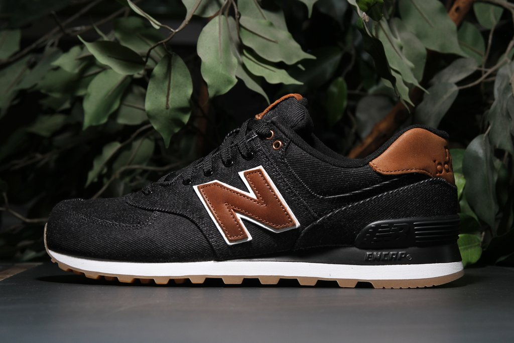 New Balance 574 15 Ounce Canvas Black