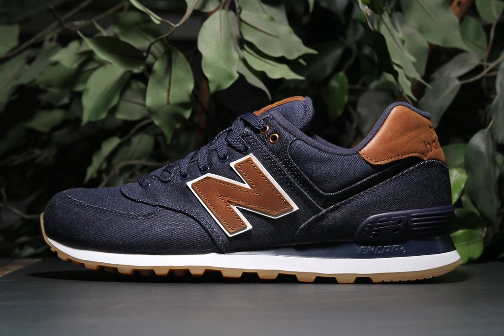 New Balance 574 15 Ounce Canvas Navy