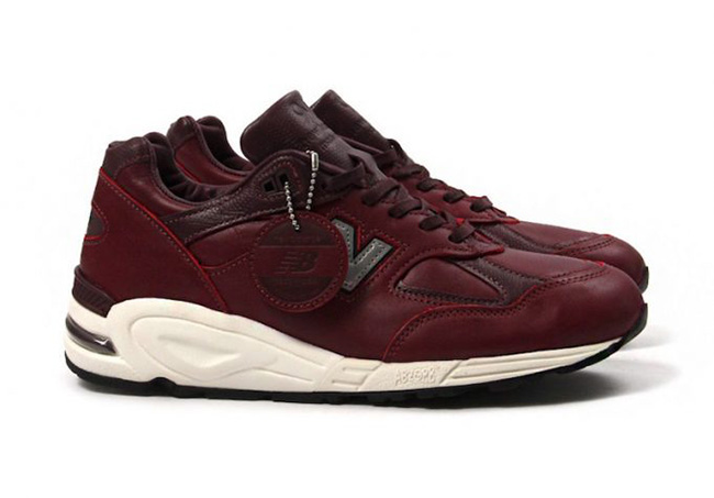 brand new 03275 56e21 New Balance 990 Burgundy Horween Leather | SneakerFiles