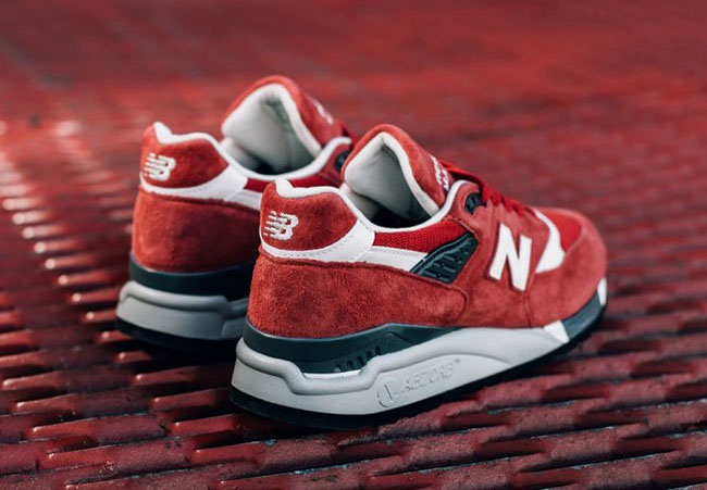New Balance 998 Made in USA Red Suede