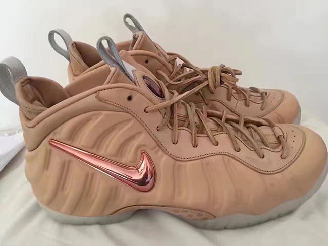 Nike Air Foamposite Pro Vachetta Tan Rose Gold Release Date