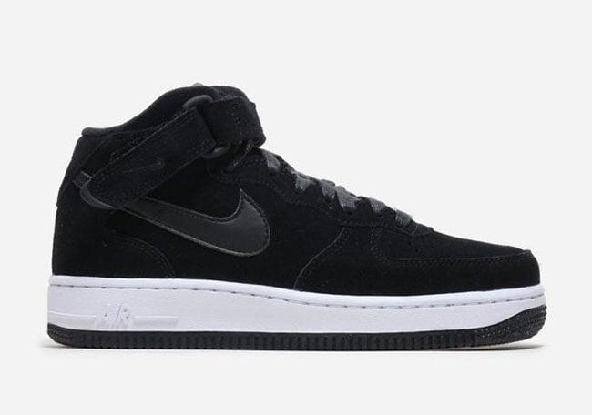 Nike Air Force 1 Mid Black Suede 818596-003  8eac49354
