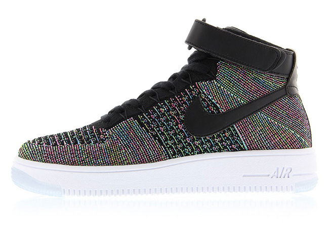 Nike Air Force 1 Mid Flyknit Multicolore dUyJH8o1c