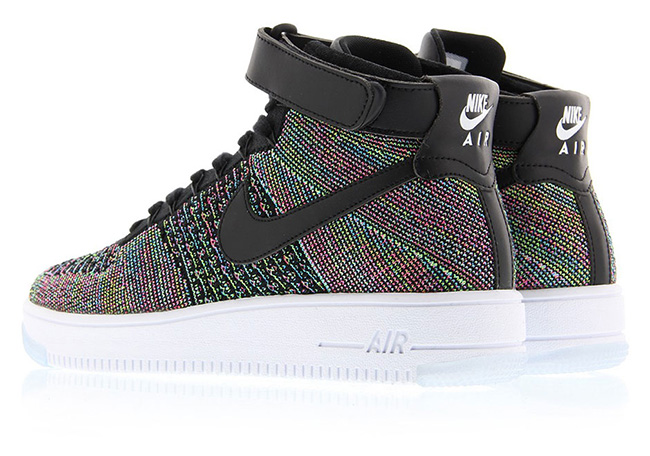 Nike Air Force 1 Mid Flyknit Multicolore yR4gNW7jwx