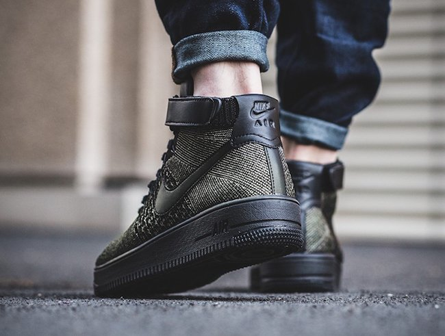 8b124b4f71ef0 Nike Air Force 1 Ultra Flyknit Mid Palm Green 817420-301 | SneakerFiles