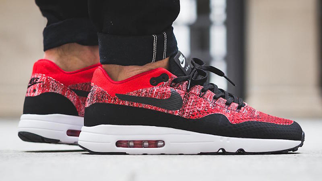 Nike Air Max 1 Ultra 2.0 Flyknit University Red 875942 600
